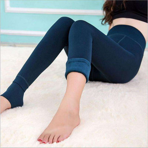 Casual Women Velvet Warm Leggings
