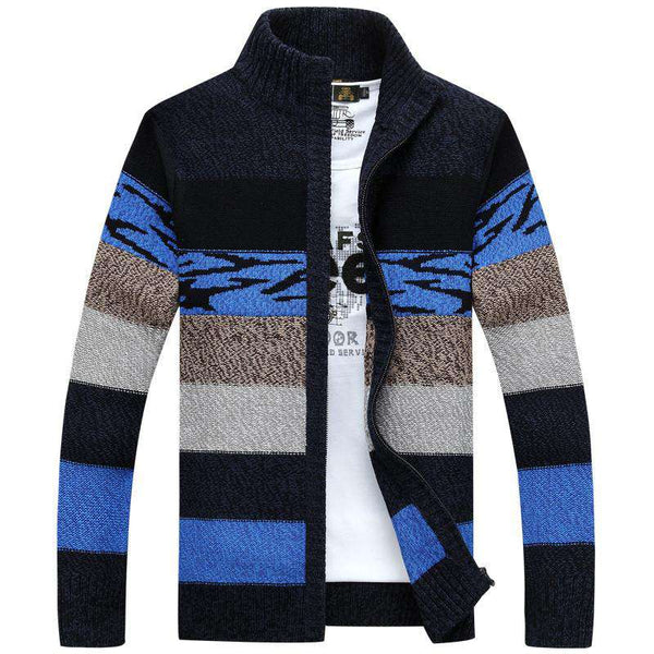Men Winter & Spring Stand Collar Slim Casual Cardigan