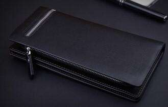 Men's Wallets Creative Zipper Long Money Clips