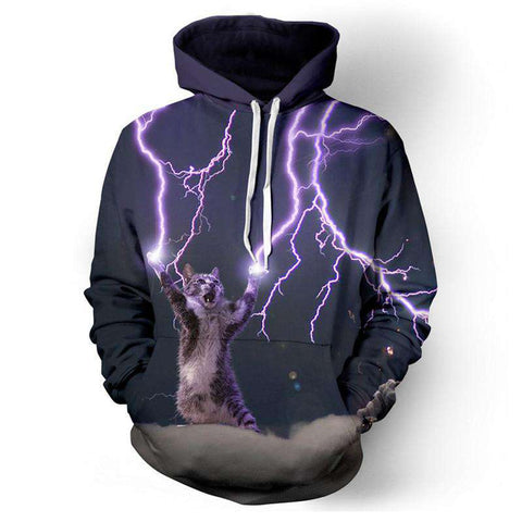 Hoodies men sweatshirt hip hop funny 3D electric long sleeves