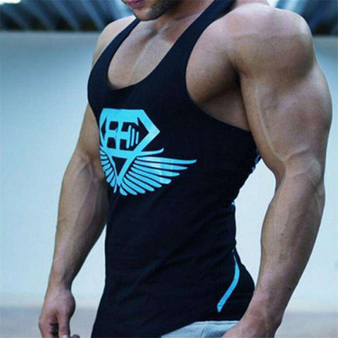 Men Bodybuilding Muscle Shirt Tanks Cotton Tank Tops