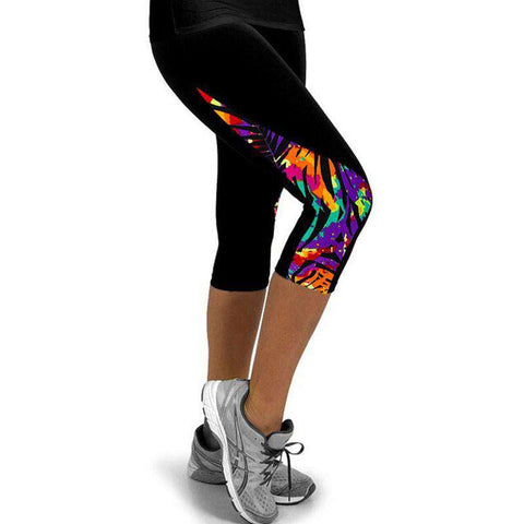 Running Tights Printed Leggings For Women Sportswear Velvet
