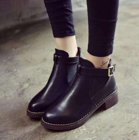 Handmade Soft Leather Female Boots