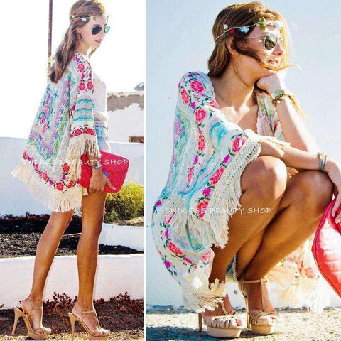New Fashion Women Floral Kimono Cardigan