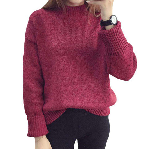 Casual Sweater Women vintage long