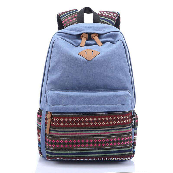 Patchwork Striped Rucksack Men's
