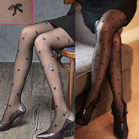 Sexy Sweet Dot Pantyhose Tights Women StockingsThin Sheer Long
