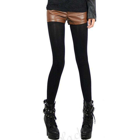 New Fashion Women's Black Sexy Tights Solid Color