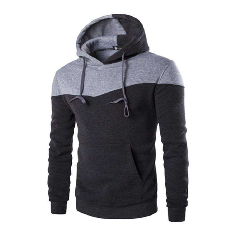 Hoodies Men Decorative Pocket Sweatshirt Suit Slim Fit