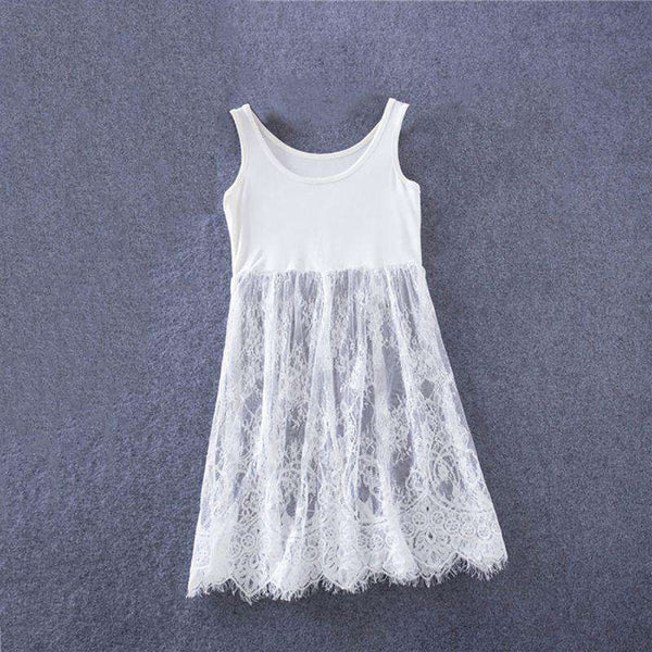 Women ride Camisole skirt in the long slim lace base