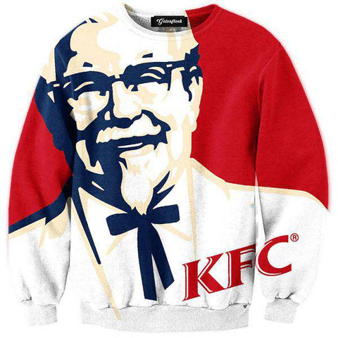 funny KFC men printed men casual long sleeve sweatshirt