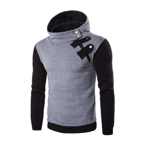 Hoodies Men Zipper Sweatshirt Slim Fit