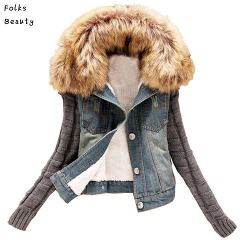 Autumn Denim Jacket Women Winter Coat
