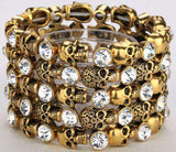bracelet for women biker bling jewelry antique gold silver plated