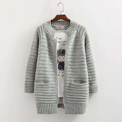Sweater Cardigan With Pockets Spring Women