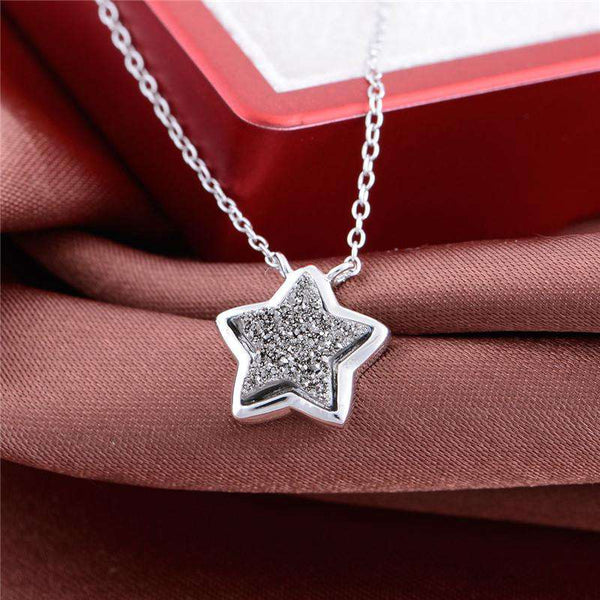 Crystal Star Pendant Fine Jewelry Necklaces