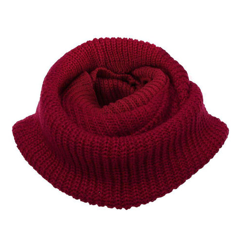 Knit Cowl Neck Long Scarf Shawl For Women