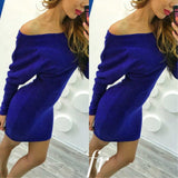 Women Winter Dresses Series Fashion New Style Sexy Off Shoulder