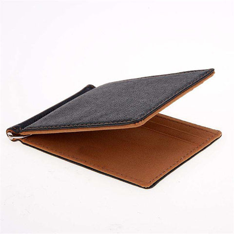 Leather Men's Wallet Solid Thin Wallet