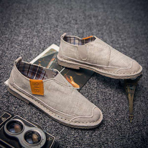 Men Canvas Hemp Slip-On Loafers