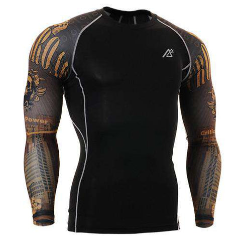 Long Sleeve O-Neck Men's Compression T Shirts
