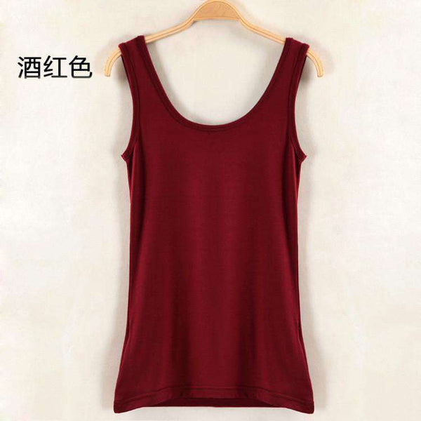 Solid Color Sleeveless Letter Print Backless Women Tank Top