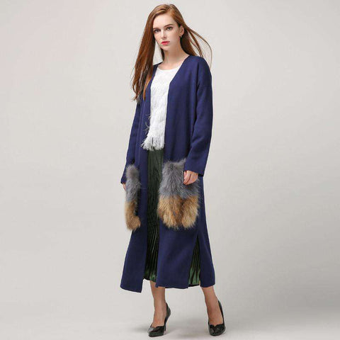 cardigan trench coat for women knitted