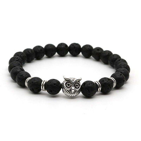 Antique Animal Owl Head Bracelet
