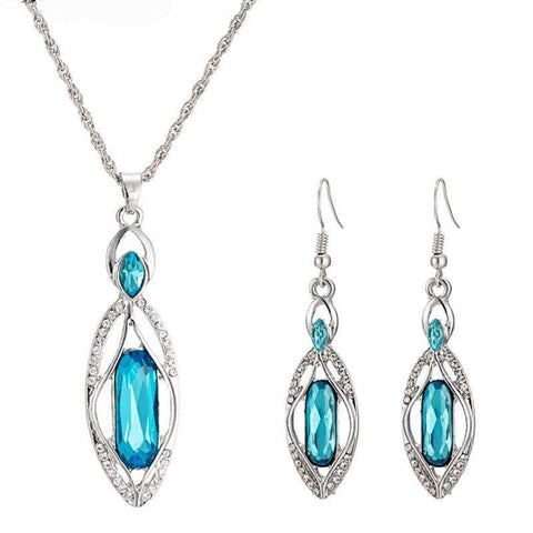 Elegant Beautiful Pendant Earrings Necklace Jewelry Set