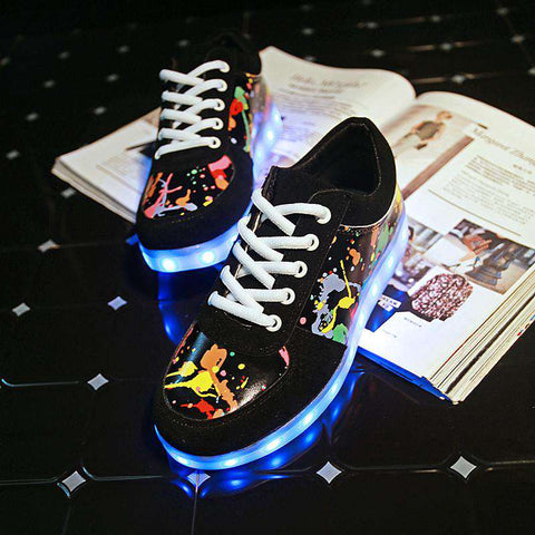 LED Light Up Winter Shoes Women