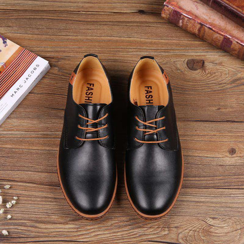Breathable Casual Men's Black Shoes Business Lace Loafers Shoes