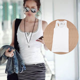 Tank Top Casual Cami Sleeveless Vest Waistcoat Bodycon Women