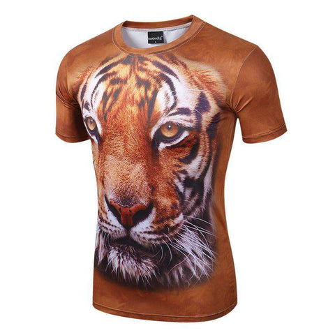 Animal 3D Men Short Sleeve