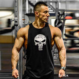 Fitness Mens Sleeveless Shirt Vests Cotton Singlets Muscle Tops