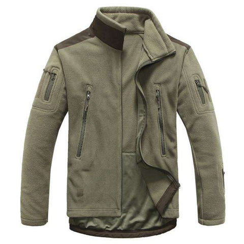 Military Man Fleece Tactical Jacket Breathable Polar Hooded Coat