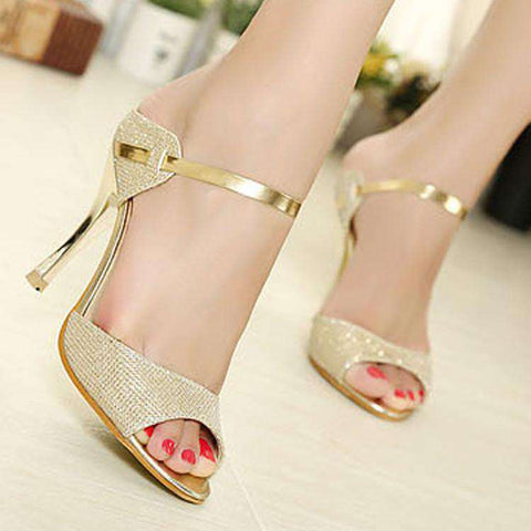 High Heels Ankle-Wrap Women Sandals