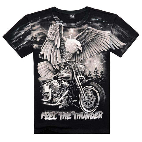 Cotton Short-sleeve 3D Printed Eagle Men's T Shirt