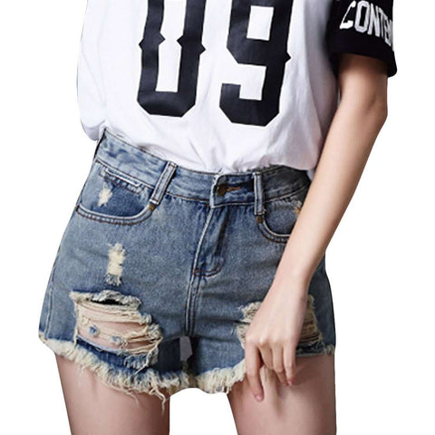 Ripped Women Short Hole Jeans