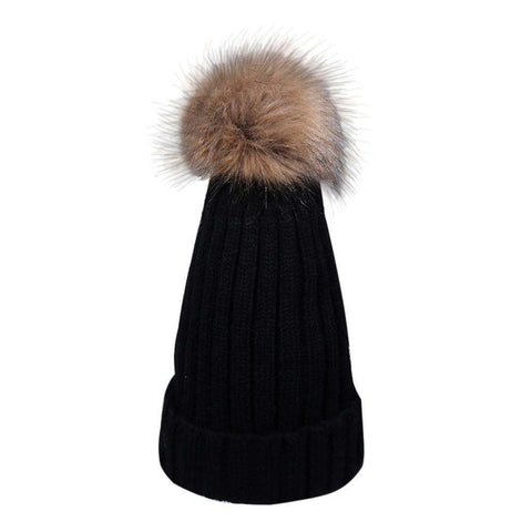 Girl's Wool Hat Knitted Cotton For Women