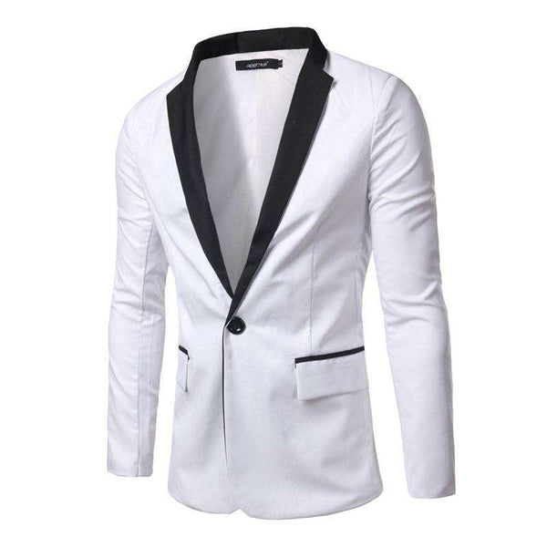 Men Casual Suit Slim Fit Cotton