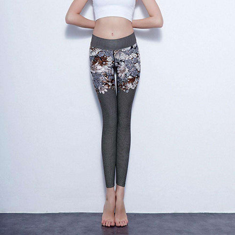 Digital Printed Ankle Length Leggings for Workout