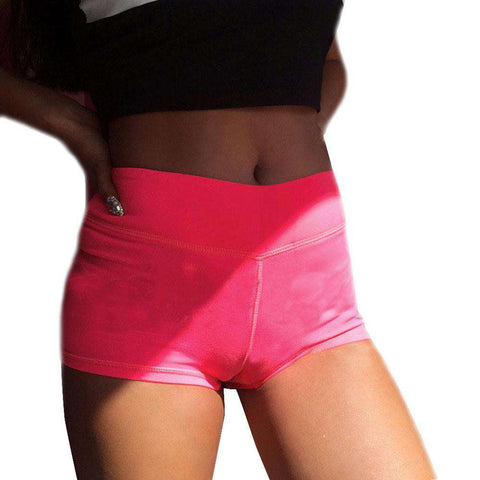 New Summer Women Shorts Workout Waistband Skinny Short Bright Color