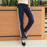 Stripe Cotton Harem Pants Female New Summer Women