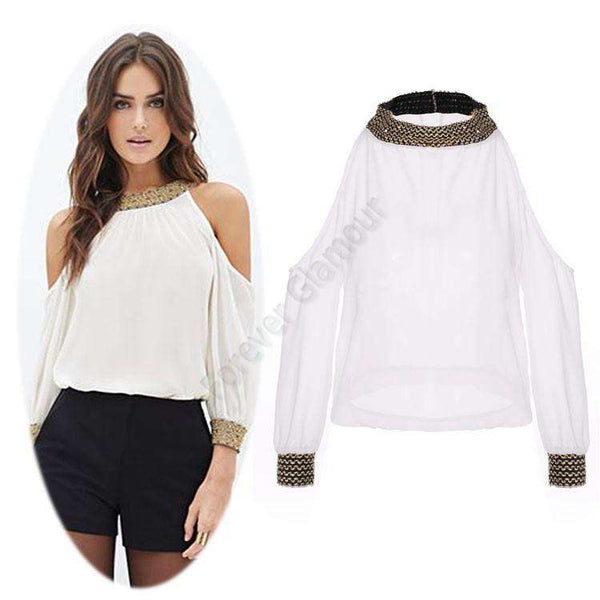 Women Shirt   Off Shoulder Tops Long Sleeve