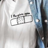White T shirt Women I Forgive You Corner