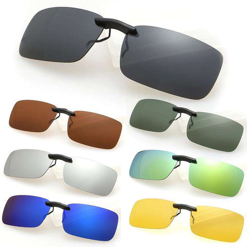 Men Polarized Clip On Sunglasses
