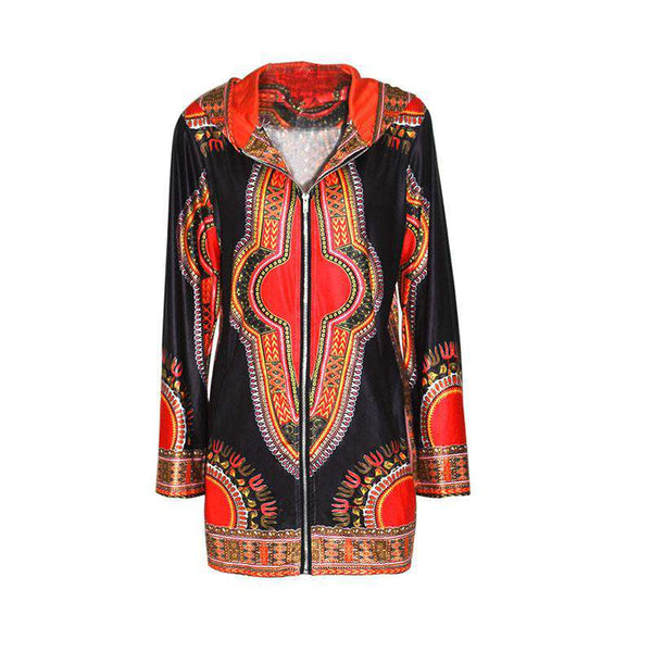 Fall Women Basic Traditional African Coats