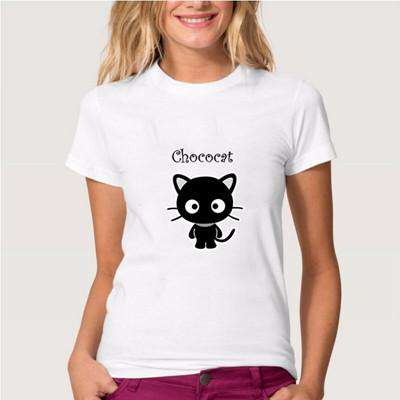 Naughty Black Cat 3D T shirt Women