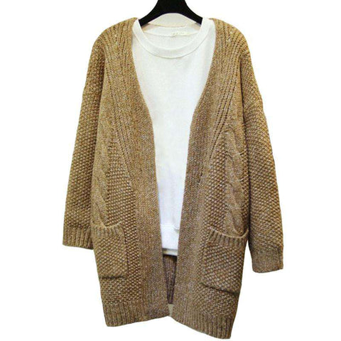 Casual Vintage Women Sweater Cardigan