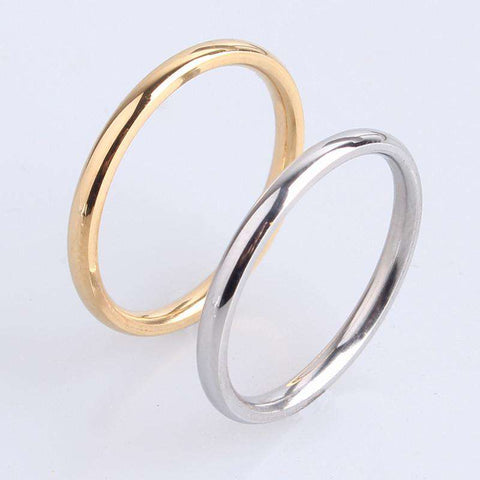 2mm Stainless Steel Wedding Rings